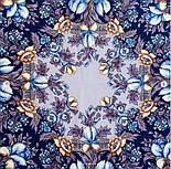 Белой ночи кружевные сны 1844-14, павлопосадский платок шерстяной  с шелковой бахромой, фото 5
