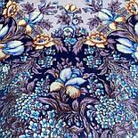 Белой ночи кружевные сны 1844-14, павлопосадский платок шерстяной  с шелковой бахромой, фото 6