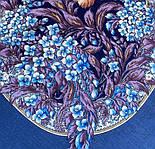 Белой ночи кружевные сны 1844-14, павлопосадский платок шерстяной  с шелковой бахромой, фото 3