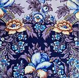 Белой ночи кружевные сны 1844-14, павлопосадский платок шерстяной  с шелковой бахромой, фото 8