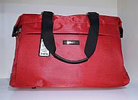 Спортивная сумка Dolly 789 дорожная с плечевым ремнем с карманами 43*28*17 см три цвета Красный