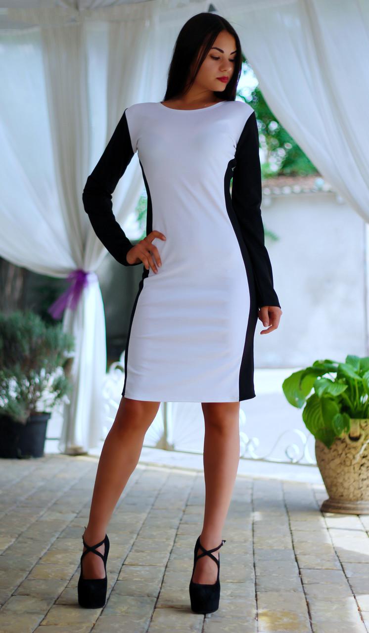 Стильное платье до колена