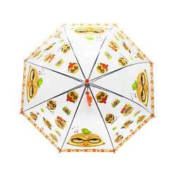 """Зонт прозрачный """"Совы"""", 75 см (оранжевый)"""