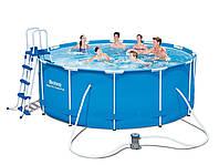 Каркасный бассейн Bestway 15427 Steel Pro MAX (366х133) с полным комплектом