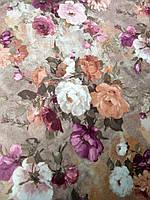 Мебельная ткань принт Пион 4, фото 1