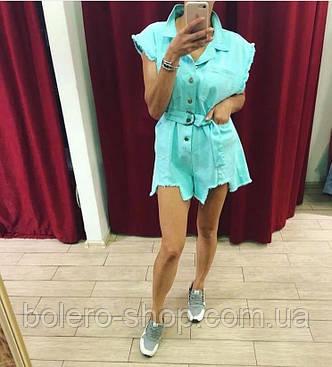 Комбинезон шортами Mochy Paris голубой, фото 2