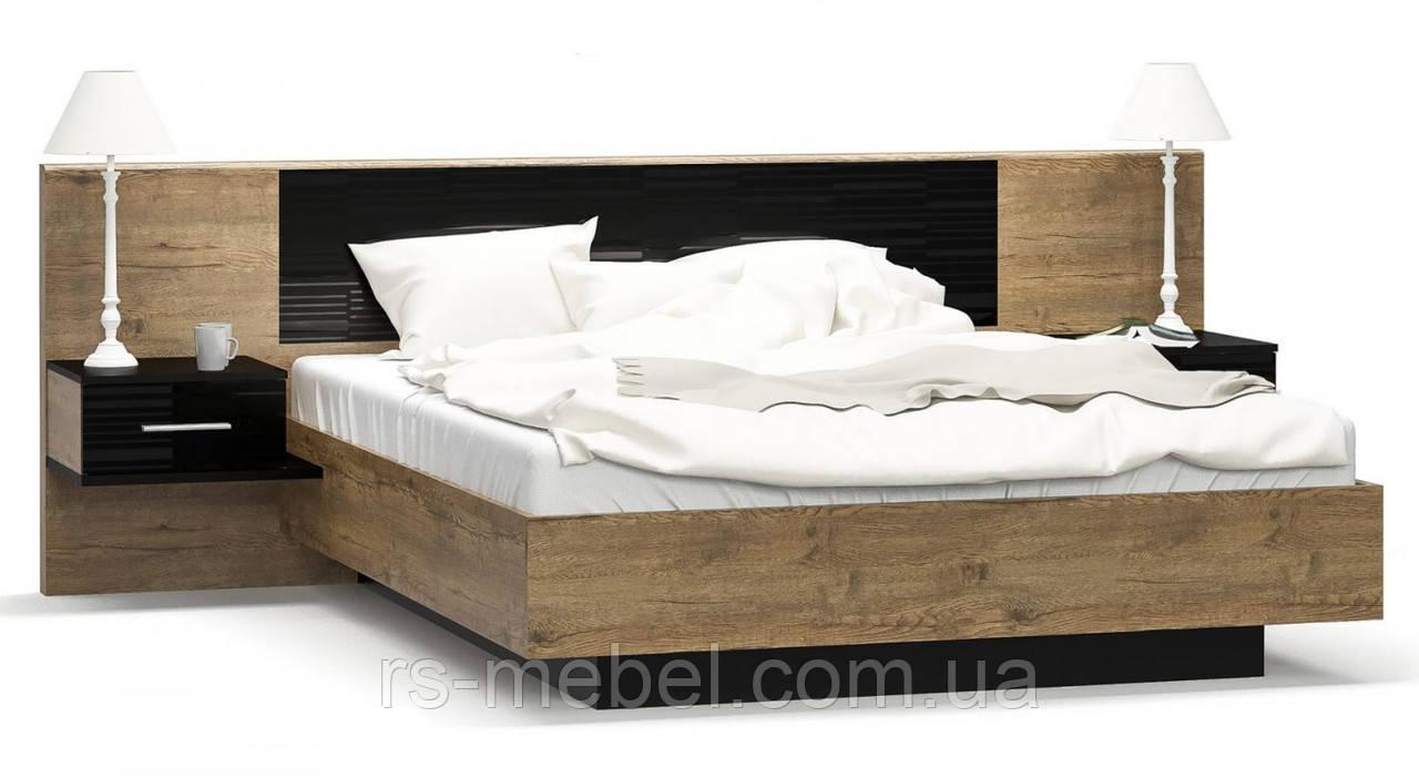 """Кровать 160 """"Фиеста"""" дуб април, (Мебель-Сервис)"""