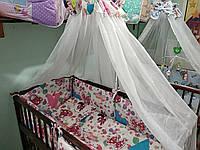 Постельный комплект белья для детской кроватки
