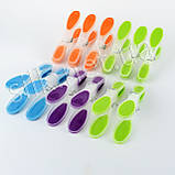 Прищіпки силіконові кольорові, фото 2
