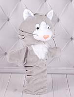 Игрушка рукавичка для кукольного театра Котик, кукла перчатка на руку