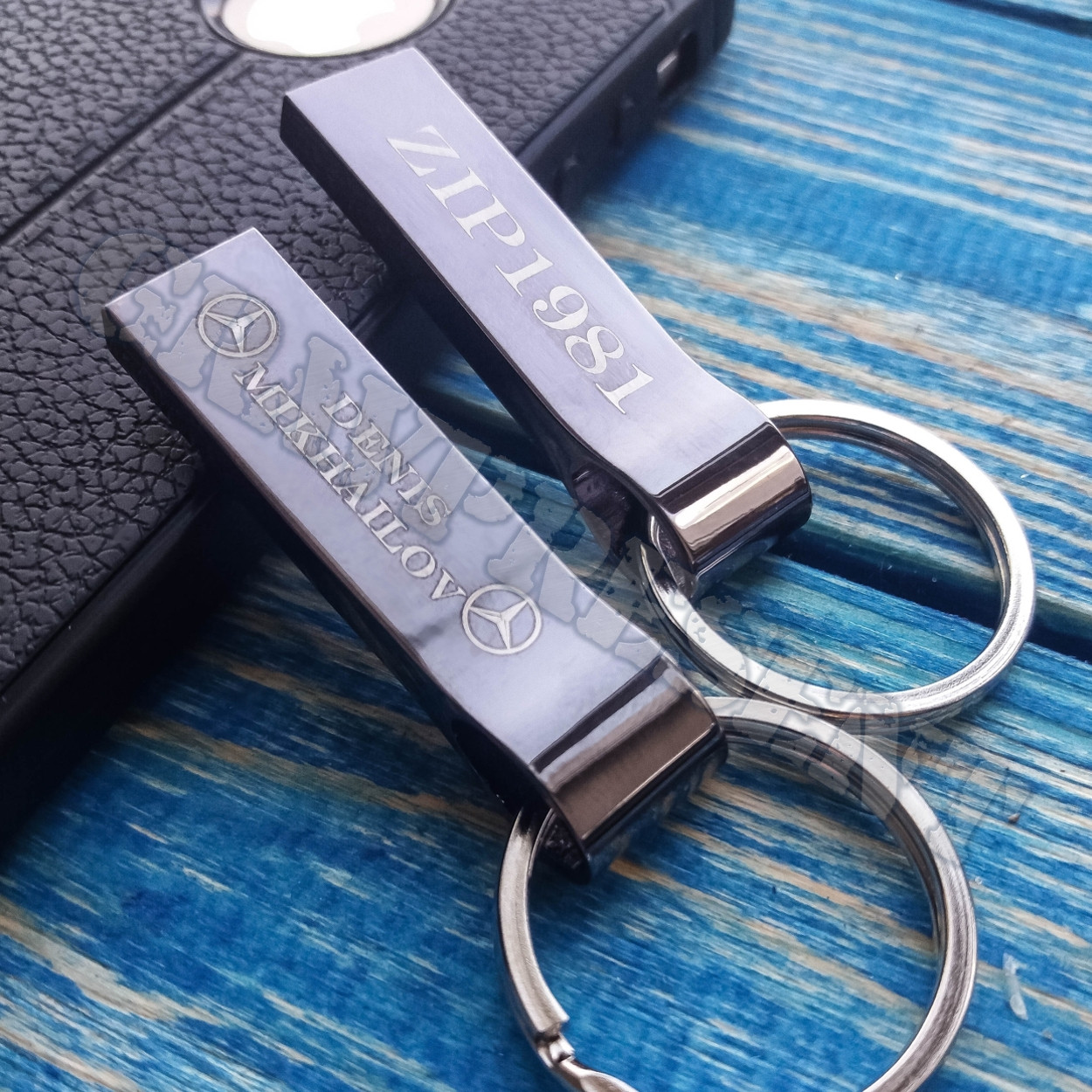 Металлическая USB Флешка 32 Гб с гравировкой на заказ. Кольцо.