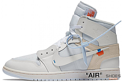 Мужские кроссовки Off-White x Nike Air Jordan 1 White aq0818 100, Найк Аир Джордан 1