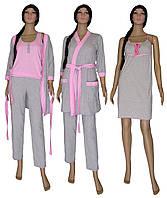 Ночная рубашка, теплый халат и пижама 18306 03278-2 MindViol Soft Grey&Pink, р.р.42-56