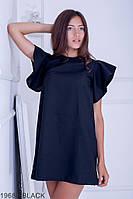 Яркое и легкое свободное платье-трапеция с рукавами крыльями Ellis