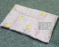 Подушка детская Нулевка 0-6 месяцев 38х58 для новорожденных с рождения гипоаллергенная 4620 Розовый, фото 1