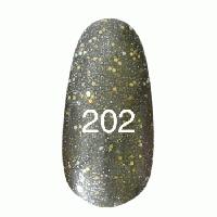 Гель лак Kodi 7 мл. Цвет №202 - болотный с перламутром, блестками