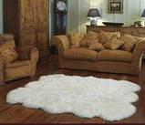 Ковер из шести овечьих шкур белый, фото 4