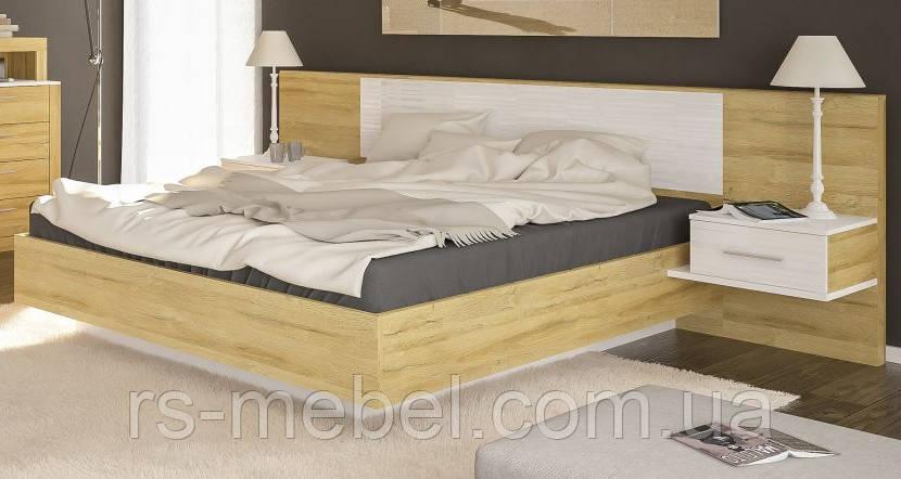 """Ліжко 160 """"Фієста"""" золотий дуб (Мебель-Сервіс)"""