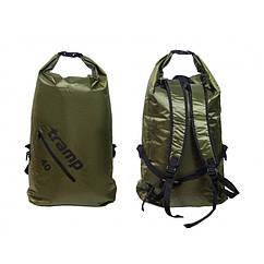 Герморюкзак 40л Rip-Stop Tramp Olive. Туристический рюкзак. Рюкзак для сплавов