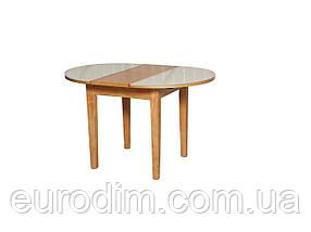 Стол обеденный ED02 стекло белое/ольха, фото 3