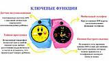 Дитячі Смарт годинник з GPS Q610 Blue (Smart Baby Watch) Розумні годинник, фото 2