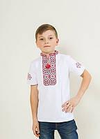 """Вышиванка для мальчиков """"Иванко"""" красная"""
