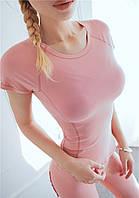 Женская фитнес футболка Overgym розовая M