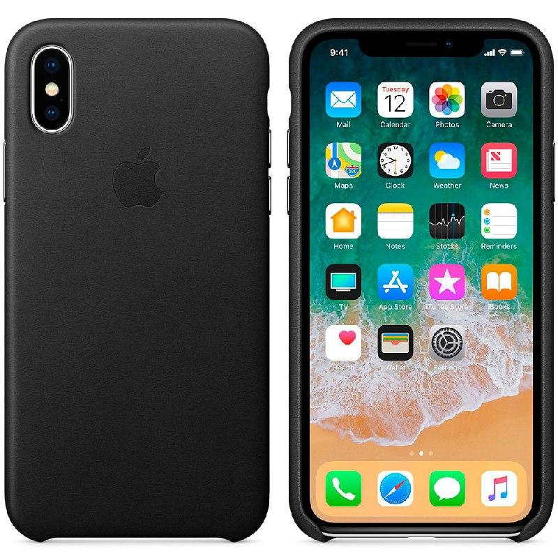 IPhone X  Leather Case Black (Natural Leather)