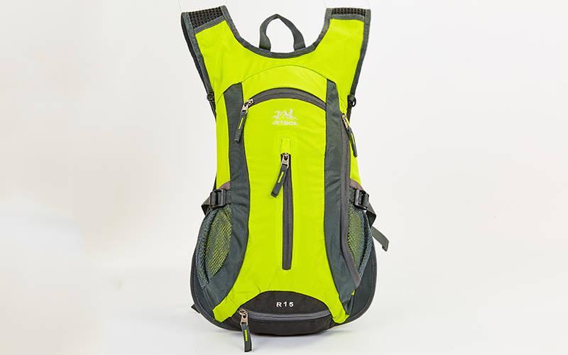 Рюкзак спортивный с жесткой спинкой GA-2081 (нейлон, р-р 31х8х43см,цвета в ассортименте )