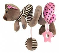 Спираль для коляски Baby Mix STK-16433P Мышка Розовая