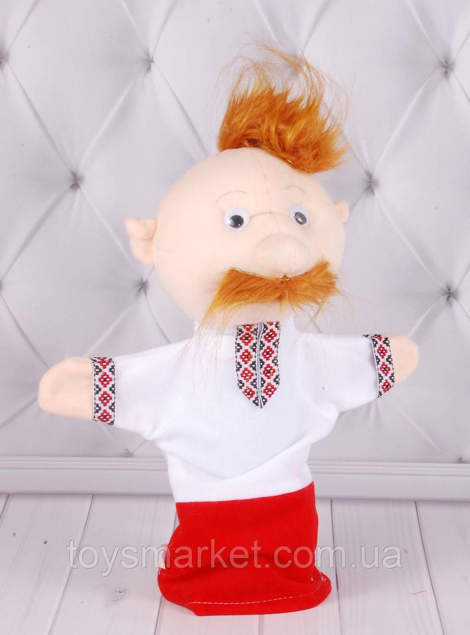 Игрушка рукавичка для кукольного театра Козак, кукла перчатка на руку