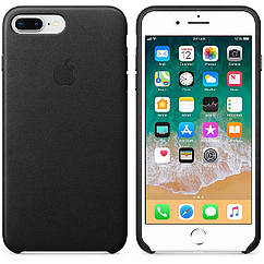 IPhone 7 plus  Leather Case Black (Natural Leather)