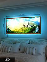 LED Картина, Сказочный замок на холме