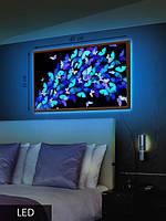 LED Картина Синие бабочки