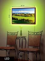 LED Картина, Средняя, Умиротворенный пейзаж