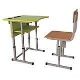 Школьная парта Першачок и ученический стул Кадет - комплект мебели для Новой школы, фото 6