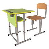 Школьная парта Першачок и ученический стул Кадет - комплект мебели для Новой школы, фото 3