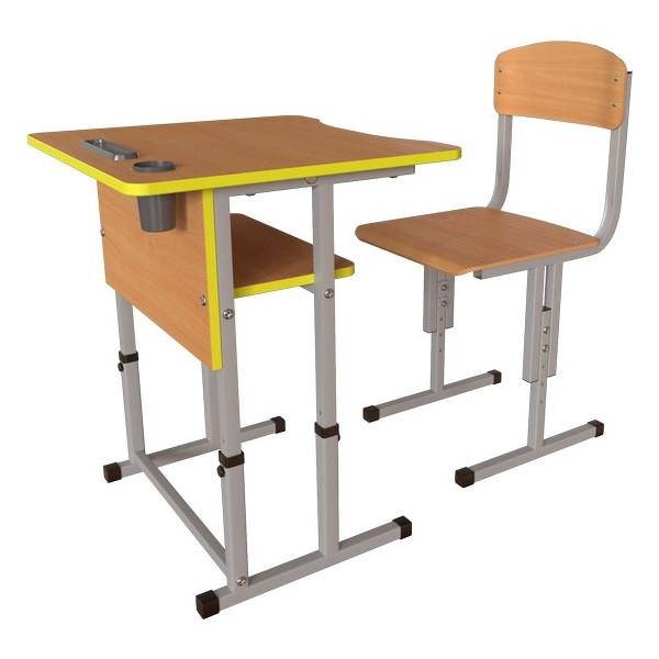 Школьная парта Першачок и ученический стул Кадет - комплект мебели для Новой школы