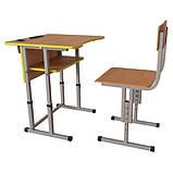 Школьная парта Першачок и ученический стул Кадет - комплект мебели для Новой школы, фото 4