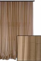 Тюль сетка с горизонтальными полосами