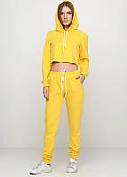 Костюм спортивный женский, желтый молодежный модный