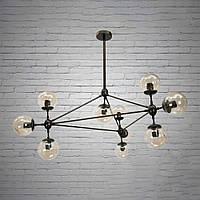 """Люстра """"молекула"""" в стиле лофт на 10 лампочек СветМира (черная) D- 71120/10"""