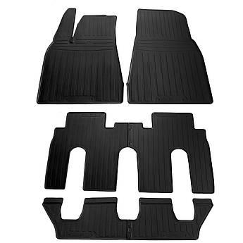 Коврики в салон резиновые для Tesla Model X (7 seats) 2015- Stingray (6шт)