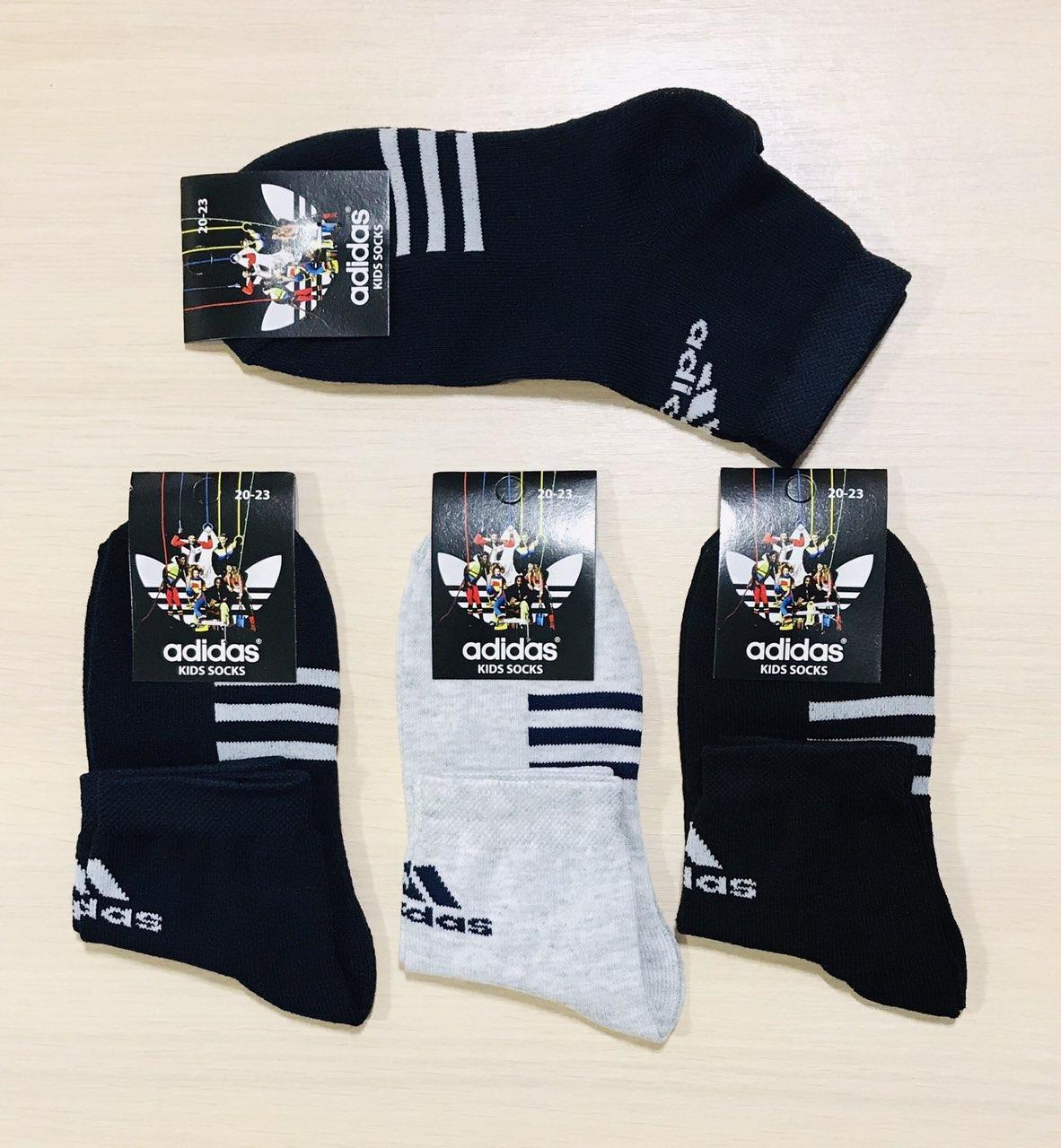 Шкарпетки дитячі демісезонні бавовна Adidas - Туреччина розмір 20-23 (32-35)