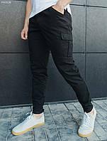 Чоловічі штани карго (мужские черные брюки карго стаф) Staff cargo dark TS FFK0026