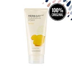 Пенка для умывания с лимоном THE FACE SHOP Herb Day 365 Cleansing Foam Lemon, 170 мл
