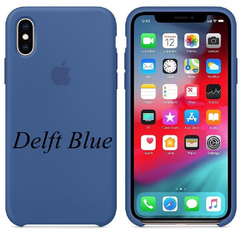 "APPLE SILICON CASE IPHONE X "" DELFT BLUE """