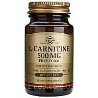 Л Карнитин L-carnitine, Solgar, 500 Мг, 30 Таблеток