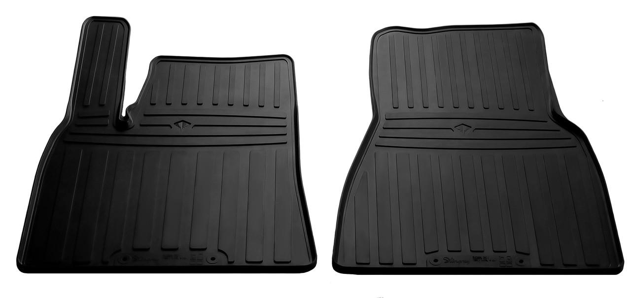 Коврики в салон резиновые передние для Tesla Model S 2012- Stingray (2шт)