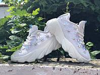 Летние белые женские кроссовки 0565КФМ